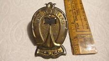 "Antique BRASS PAPER CLIP  Horseshoe Shape,SPENCERIAN, 3-1/2"""