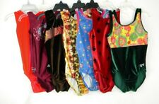 GK and Zone 7 Piece Gymnastic/ Dance Leotards Lot Girls/ Kid's Size Large EUC H1