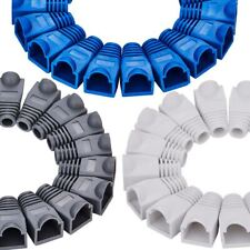 Cat5e Cat6 Boot Cap Cover for Rj45 Network Connector Cable White Black Blue