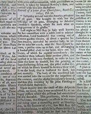 Rare Revolutionary War Era Original Enemy Edinburgh Scotland 1779 Old Newspaper