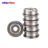 10PCS F624ZZ (4x13x5mm) Miniature Metal Shielded (Flanged) PRECISION Bearing