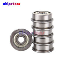 10PCS F624ZZ (4x13x5mm) Miniature Metal Shielded (Flanged) PRECISION Bearing