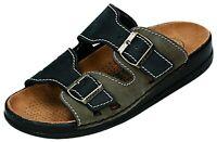 Helix Pantoletten Hausschuhe Schuhe schwarz grau 39-50 54011-55 Neu12