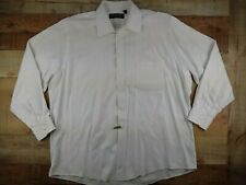 Kenneth Gordon Mens 17/34 White Button Up Long Sleeve Shirt Made in New Orleans