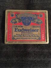 Budweiser Label Red Beer Belt Buckle Vintage Authentic Metal King Beers  Pants a0726e2d064