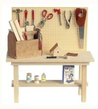 Melody Jane Puppenhaus Miniatur Gartenhaus Garage Full Werkbank Sitzbank