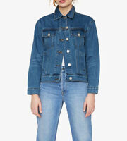 Warehouse Women Ladies Blue Button Boyfriend Jeans Denim Fitted Jacket Coat Top