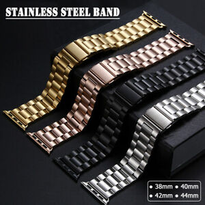 40/44mm Stainless Steel Link Band iWatch Strap for Apple Watch Series 6 5 4 3 SE