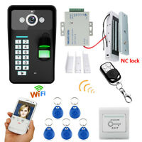 Wireless WIFI Password Video Door Phone Doorbell Intercom+Electronic Magnet Lock