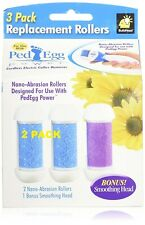 2 PACK PedEgg Power Replacement Rollers by BulbHead