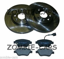 FIAT PUNTO & GRANDE FRONT BRAKE DISCS & PADS KIT 06->ON 257mm VENTED DISCS