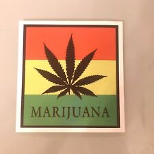 Colorful Marijuana Poster Sticker Decal Skateboard Guitar Vinyl Car Laptop