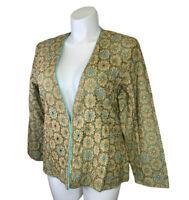 NWT Yak Magik Jacket Blazer 1XL XL Beaded Cotton Long Sleeve Art To Wear New