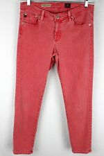 Adriano Goldschmied Stevie Slim Straight Ankle Size 30R Red Womens Jeans