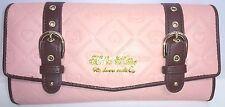 【SANRIO】【HELLO-KITTY】long wallet Brown-pink kawaii Heart charm belt reae