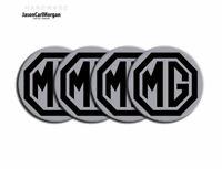 MGF MG TF Alloy Wheel Centre Caps Badges Black Silver 55mm  Hub Badge Set Of 4