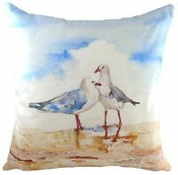 "17"" Seagulls Jennifer Rose Cushion Evans Lichfield DP783 43cm Beach Boat Sea"