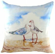 "17"" Seagulls Jennifer Rose Cushion Evans Lichfield DP783 43cm Beach Boat Sea"