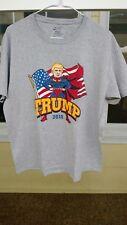 Super Donald Trump Shirt Large Gray POTUS 2016 President USA America super hero