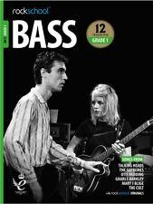 Rockschool Bass Guitar Grade 1 2018-2024 Tab Music Book/audio Songs Exercises