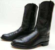 WOMENS JUSTIN L3703 BLK LEATHER ROPER COWBOY WESTERN BOOTS SZ 5 B 5B MADE IN USA