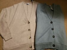 NWT Hollister Slouchy Button Cardigan Sweater Medium Cream or Light Blue/Green