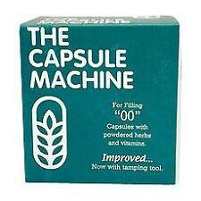 """00"" THE CAPSULE MACHINE Filling Filler POWDER HERBS VITAMINS PILLS MEDICATION"