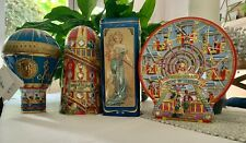 More details for churchills confectionery embossed  vintage collectable tins. four  variations.