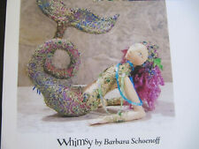 "Barbara Schoenoff Scylla Mermaid Whimsy Soft Sculpture Doll Paper Pattern 17"""