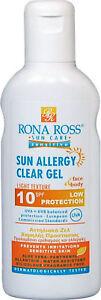 Rona Ross  Sun Allergy Clear Gel SPF10 160 ml. EXPRESS P&P