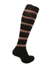 Men's Egyptian cotton socks.Striped Design. Brown / Black .Made in Italy.