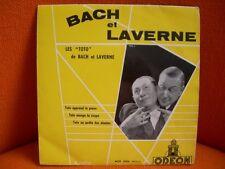VINYL 45 T – BACH & LAVERNE: LES TOTO DE – HUMOUR COMIQUE TROUPIER – 1954 ODEON