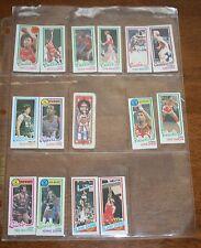 Lot of 15 Basketball mini sportscards. Gervin. Lanier. Gilmore. Moncreif.