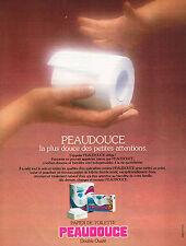 PUBLICITE ADVERTISING  1977   PEAUDOUCE   papier toilette