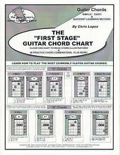"The ""First Stage"" Guitar Chord Chart - Learn How To Play The Most Commonly Playe"