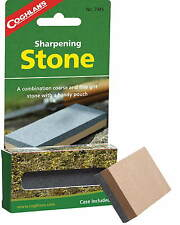 SHARPENING STONE-COURSE AND FINE GRIT WITH A HANDY POUCH INCLUDED, INSTRUCTIONS