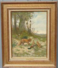 Georges Berger - Huile sur panneau, signée - thème chasse
