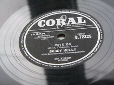 BUDDY HOLLY THE CRICKETS GB 1958 corail 78 RAVE ON / Take Your Time