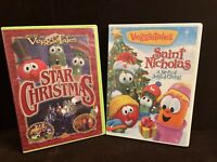 VEGGIETALES LOT OF 2 DVD'S The Star Of Christmas & Saint Nicholas A Story Of Joy