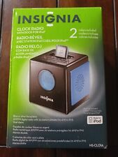 Insignia Clock Radio With Dock For iPod 2 Colors Included NS-CLO1A 600603116278