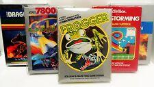 5 Box Protectors ATARI 2600 / 5200 / 7800 Video Games  ColecoVision Display Case