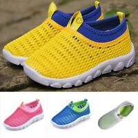 Toddler Kids Baby Boys Girls Mesh Candy Color Sport Run Sneakers Casual Shoes