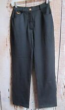 """St.John Sport"" by Marie Gray Straight Leg Pant Jean Look Stretch Black Size 2"
