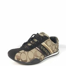 """Coach """"Raylen"""" Womens 5.5 M Brown Black Lace Up Athletic Sneakers"""
