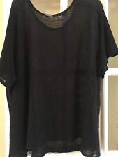 Lidira Black knitted Sweater Tunic Linen Size L