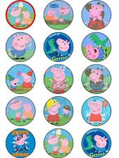 15 Peppa Pig George ICING Cake Topper Decoration Party