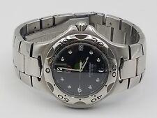 Tag Heuer Black KIRIUM Mens Professional Crystal SS Watch - 200m Meters