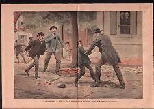 Schoolboy School Teacher Ecolier Ecole Instituteur France 1906 ILLUSTRATION