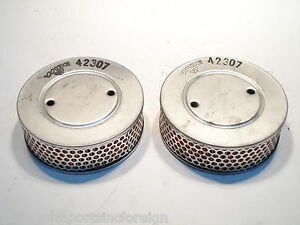 Air Filters Fits Triumph TR4 (air cleaner w/o pipe) 1961+ New Wix  (QTY 2) 42307