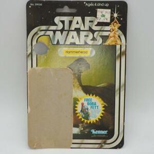 Vintage Star Wars Tête Marteau 20 Arrière Cardback Boba Fett Offre